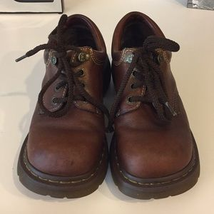 Dr Martens brown 3A80 lace up chunky oxfords, Sz 8